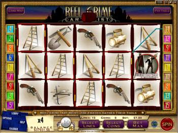 Reel Crime Art Heist Slot Machine